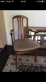Free!! Two matching mid-century dining chairs