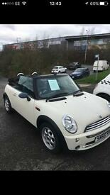 2005 mini one convertible cream white