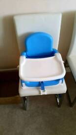 Lindam booster seat high chair with table