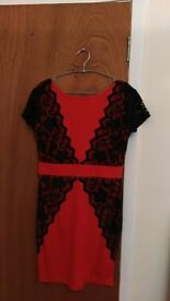 Red and black dress size 14