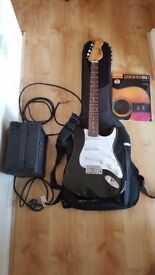 Perfect for beginners! Encore Electric Guitar + Amp + Padded Ritter Case + book