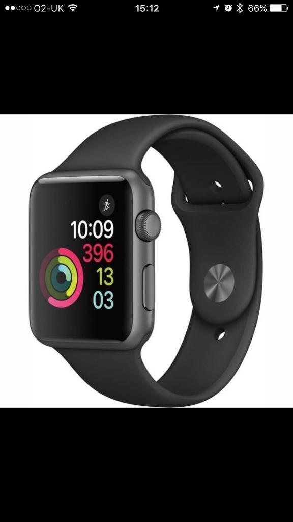 Apple Watch 42mm sport space greyin Dunfermline, FifeGumtree - Good condition Manufacturers notes on this model Features Space Grey aluminium case S1P dual core processorSplash resistantIon X glass OLED Retina display with Force Touch (450 nits)Composite back Digital CrownHeart rate sensor, accelerometer and...
