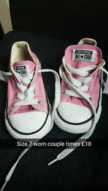 Pink convurse size 7 worn once