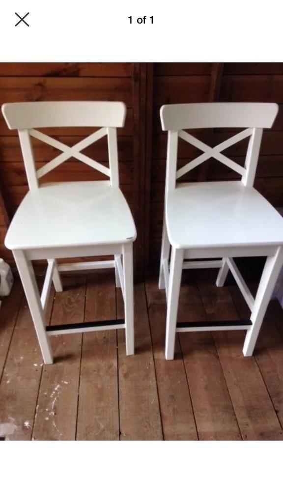 Pair of Ikea Ingolf Bar stools