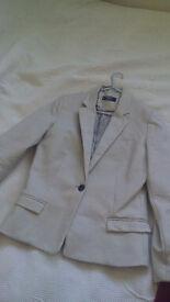 Mango womens blazer suit jacket beige size 10