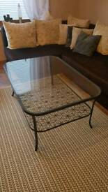 Large glass coffe table IKEA KLINGSBO