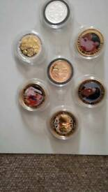 ROYAL FAMILY COINS X 7. Collection only