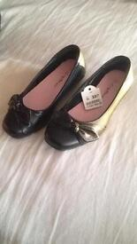 Brand New Girls black shoes size 13
