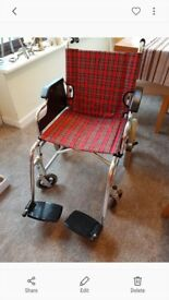 Wheelchair. Excellent Condition solid tyres