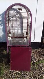 Large free standing bird cage