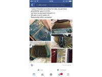 Gold and blue marble accordion- Frontalini
