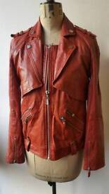KARL LAGERFELD red goats leather jacket