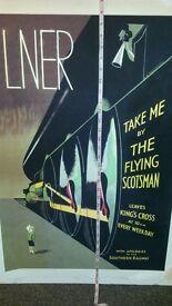BIG POSTERS PICTURES RAILWAYS TRAIN lner FLYING SCOTSMAN
