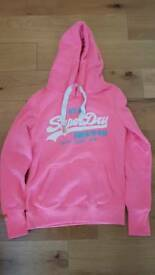 Superdry pink fleece XS