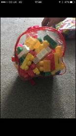 2 bags mega blocks