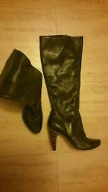Hardly worn leather firetrap boots