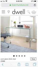 Chic Glass Desk