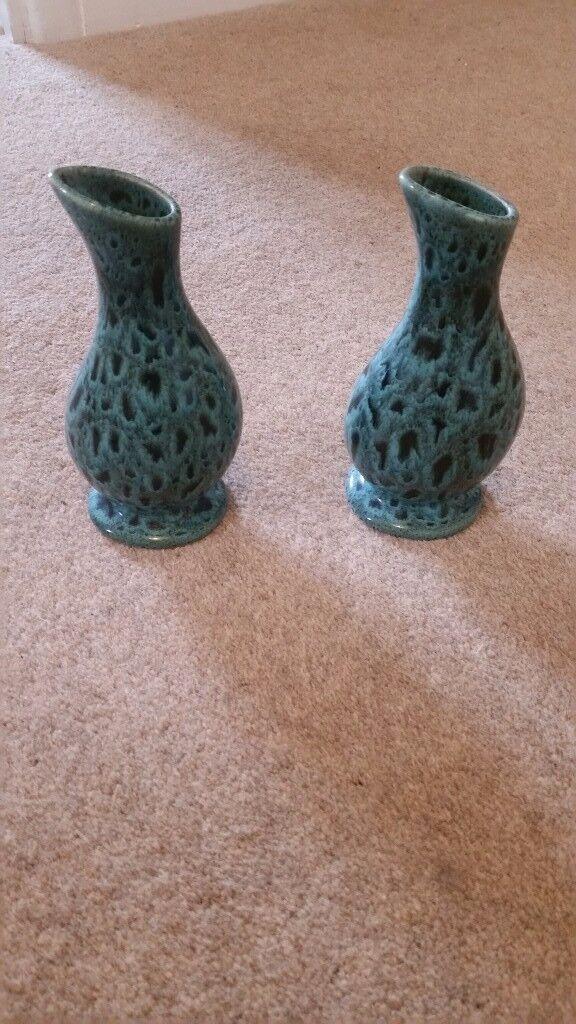 Pair of Vintage Vases - Mottled Effect
