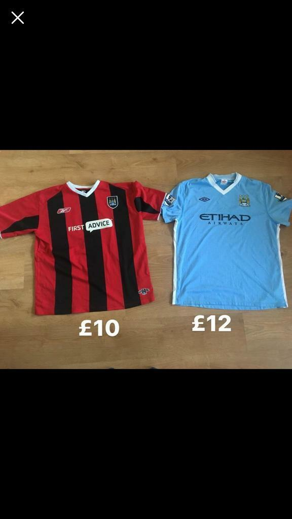Genuine retro football shirt Manchester City size xl prices on pictures no  offers gorleston 0f2b53bc1