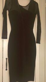 Topshop Black Petite Midi Dress