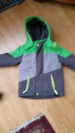 Padded Green & Grey Boys Jacket