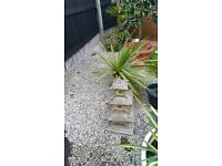 White decorative garden stone over 1 and half tons