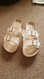 White new look sandals size 5