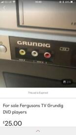 Grundig player and Ferguson TV +DVD