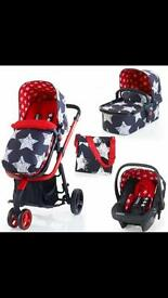 Cosatto giggle 2 hipstar 3 in 1 travel system with car seat.