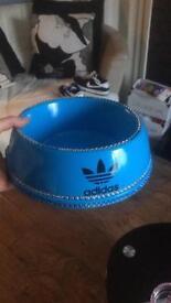 Bling Adidas dog bowl