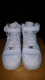 Nike AF1 high top white trainer's size 4
