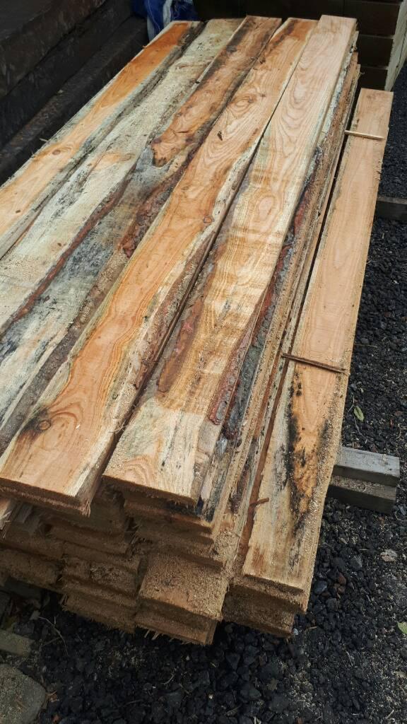 Wayney edge larch timber boards