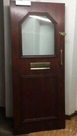 Front door. Dark wood 81.5 by 196.5.