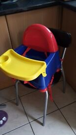 Baby seat high chair and walker