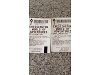 2 tickets to chessington world of adventures