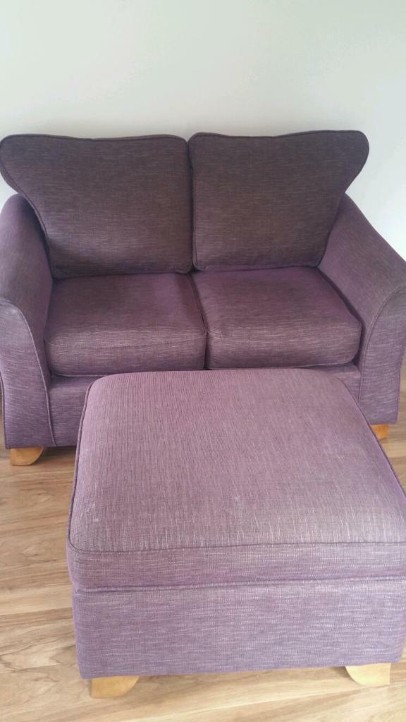 Marks And Spencer Petite Small Sofa In Plum Purple In