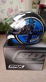 Box scope helmet blue colour as new condition only used once