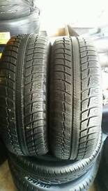2X MICHELIN ALPIN A3 195/65R15 IN EXCELLENT CONDITION HARDLY BEEN USED