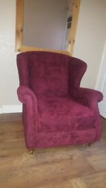 Dfs highbacked winged armchair