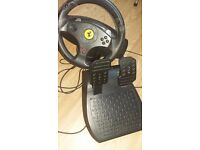 Steering wheel ps3 hardly used