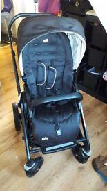 joie chrome 3 in 1 pram/buggy/pushchair