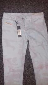 new with tags diesel livier skinny fit low size 8 10 34 leg