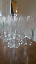 8 large tumblers glasses