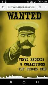 Vinyl record collections wanted