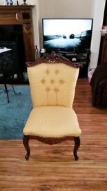 antique style occasional/hall chair