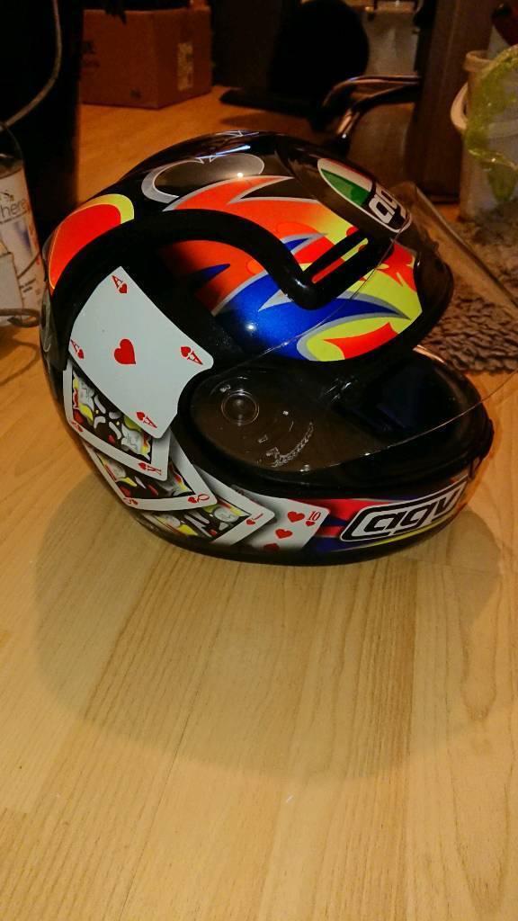AGV Q3R X vent 'Poker' crash helmet