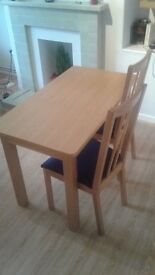 Dining table and chairs for 2 people-Clapham