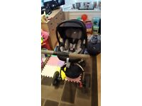 Travel system including pram car seat and isofix