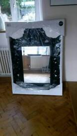 Large black wall mirror (delivery can be arranged locally)