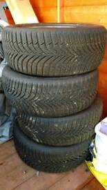 Set of four Hankook Winter I*Cept rs2 winter tyres 195 50 15